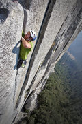 Rock Climbing Photo: Tom Wright making the Liberace fiddle finger exit ...