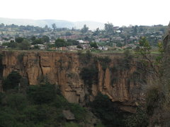 Rock Climbing Photo: looking back at the township above waterfall crags...