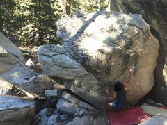 Christian nabbing the 3rd ascent of Colonel Angus V3
