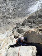 Rock Climbing Photo: Johnny K following P3 of the Left East Arete.