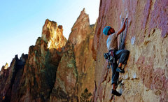 Rock Climbing Photo: Matt on Barbecue The Pope