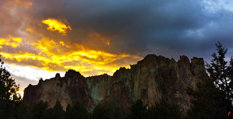 Smith Rock after a storm