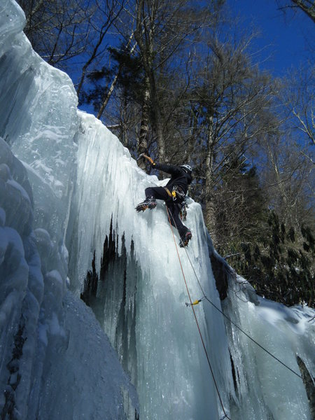 Rock Climbing Photo: Stephen Scoff on a P1 variation.