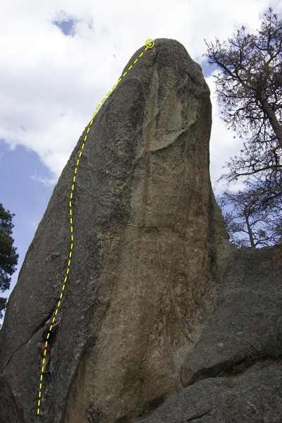 Jacob Mader leading up Static Cling(5.10) in Chopping Block.