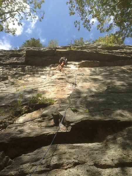 Rock Climbing Photo: In this picture the line being climbed is Jean. Pr...
