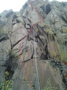 Rock Climbing Photo: The big notch about 25 feet up is an unmistakable ...