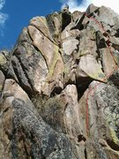Rock Climbing Photo: Pitch one - some fun climbing on the first wall. M...