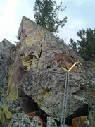 """Rock Climbing Photo: The top of pitch one and the """"pyramid"""" (..."""