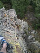 Rock Climbing Photo: The top of the pyramid, looking down pitch 2, arou...