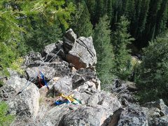 Rock Climbing Photo: The top set up, a tree is a great way down. If I w...