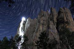Rock Climbing Photo: Star trail taken as Mark Rafferty and Isaac Bradsk...