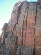 Rock Climbing Photo: Made In The Shade. Climbs the left most dihedral t...
