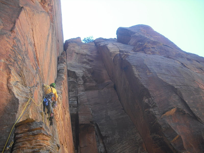 Rock Climbing Photo: J.Snyder headed up the get rad ramp on the second ...