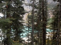 Rock Climbing Photo: Looking at Lake Louise from the base of the Outhou...