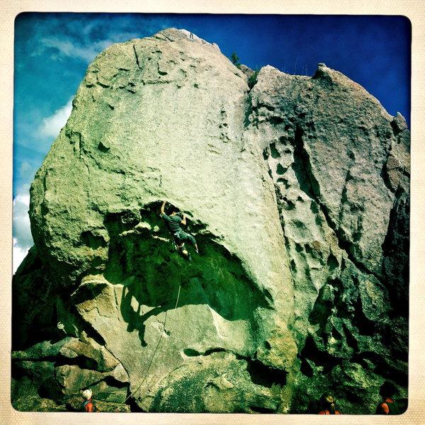 Rock Climbing Photo: Paul climbing.