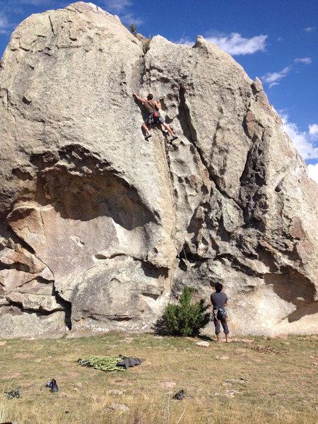 Rock Climbing Photo: Ryan climbing.