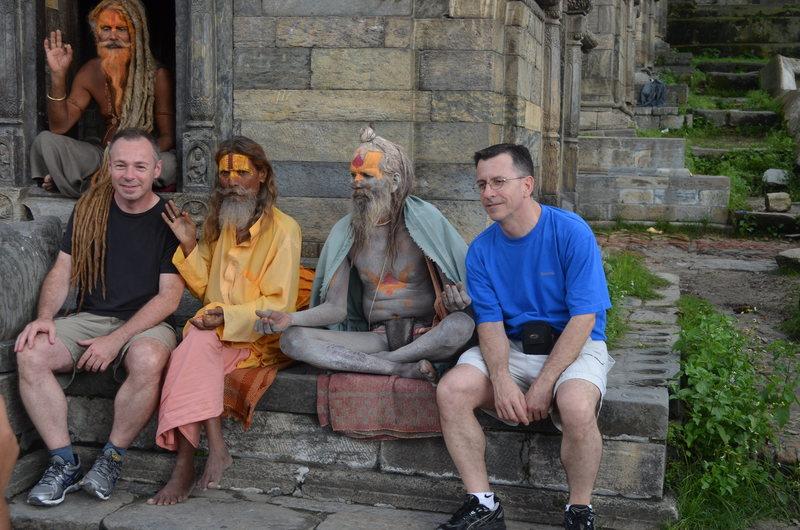 Travellers in Kathmandu Nepal