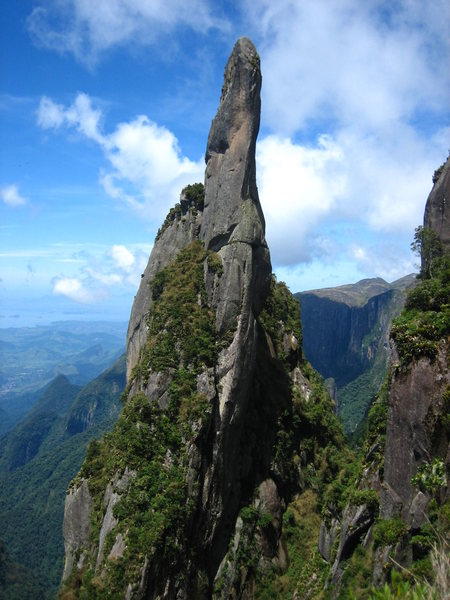 "Agulha do Diabo (Devil's Needle) form the view point ""Mirante do Inferno"""