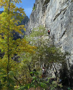 Rock Climbing Photo: A beautiful day in October.