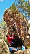 Rock Climbing Photo: Start beta of Bellicosity.