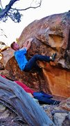 Rock Climbing Photo: Staring down the move to the lip on Crossing the P...