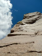 Rock Climbing Photo: Possible harder line just right of the arete
