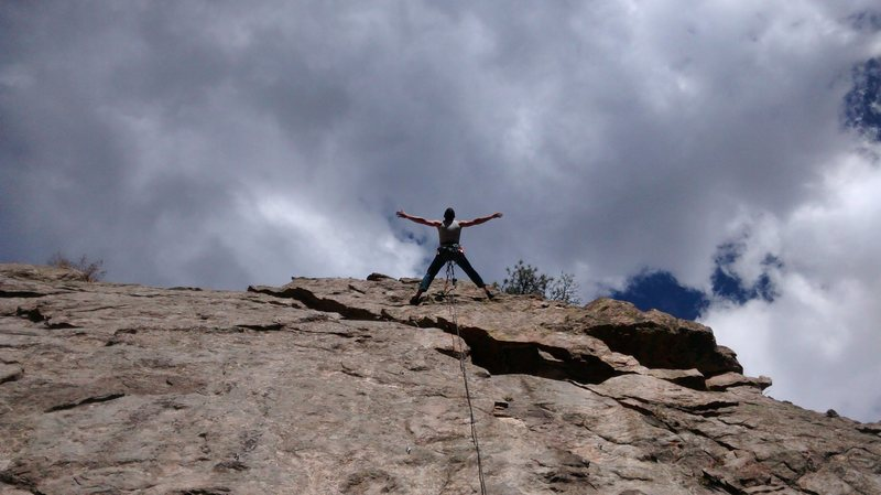 Rock Climbing Photo: Ivan taking it all in at the anchors of Waffle Hou...
