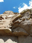 Rock Climbing Photo: Challenging overhanging start
