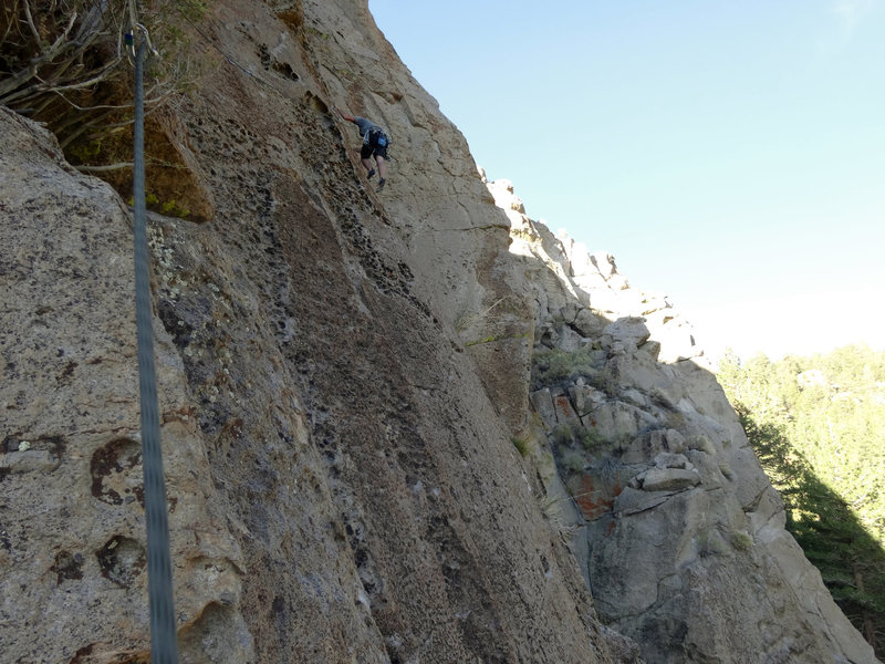 Rock Climbing Photo: Last pitch heading for the Inyo Face buttress.