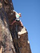 Rock Climbing Photo: Dede leading P1/2...