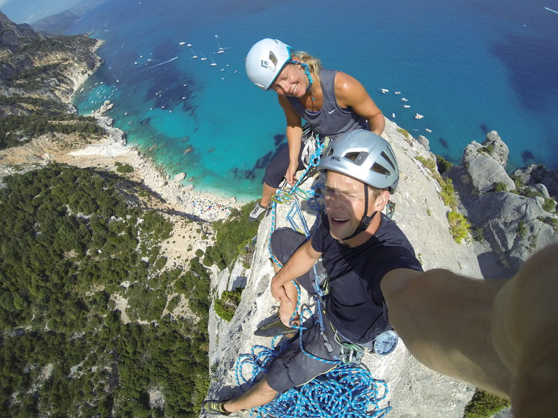 Top of Aguglia, Cala Gonone, Sardinia, Italy. August 2014