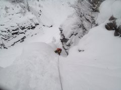 Rock Climbing Photo: Rjukan, Norway. Kristian ice climbing/swimming up ...