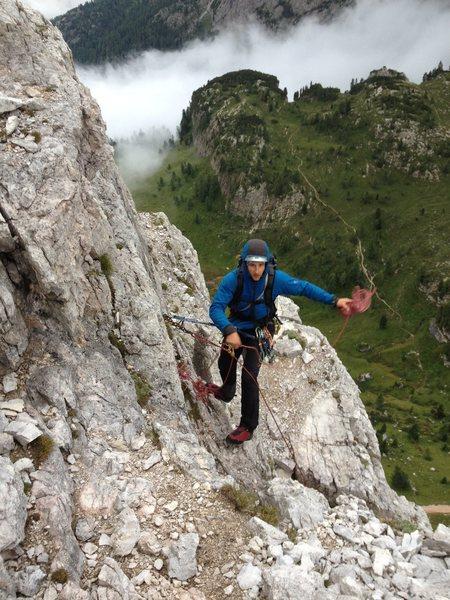 Rock Climbing Photo: Descent from Cinque Torri