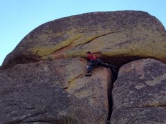 Rock Climbing Photo: Trying to avoid putting my hands in the giant pile...
