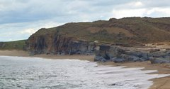 Rock Climbing Photo: Overview of Frasers Beach bouldering area. Note th...