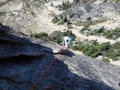Rock Climbing Photo: Hannah Kepner on pitch 2