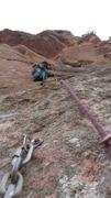 Rock Climbing Photo: League of Doom P2: 5.11R. Crank up the wall just t...