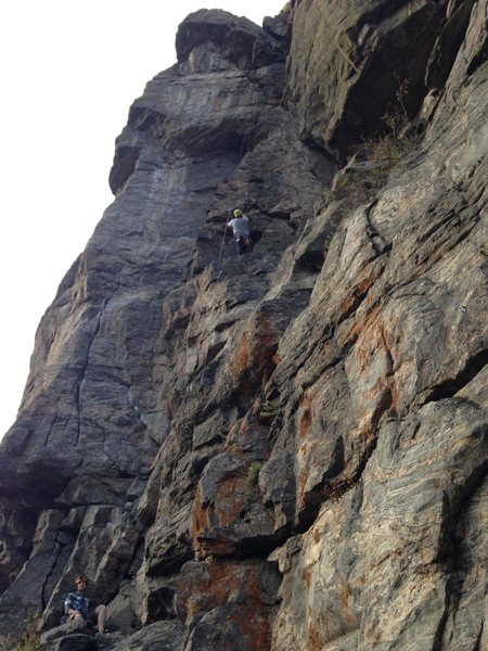 Rock Climbing Photo: Austin climbing Air Head with me belaying on the l...