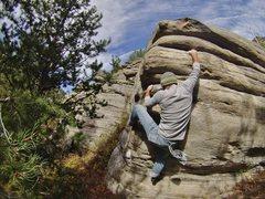 Rock Climbing Photo: Jordan Dommer working the heel hook.