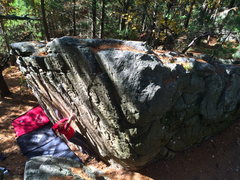 Rock Climbing Photo: Matching in the upper slot after starting low