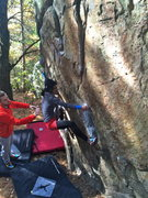 Rock Climbing Photo: Jyoti climbing a variation of the Corner Problem w...