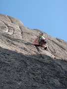Rock Climbing Photo: Looking up at the crack....