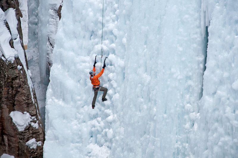Ice Climbing Ouray Ice Park, CO