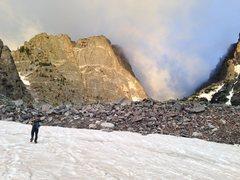 Rock Climbing Photo: Alpenglow.