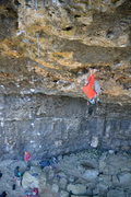 Rock Climbing Photo: craig at the v-shaped hueco rest that comes just b...