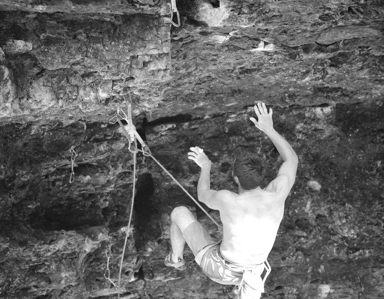 Rock Climbing Photo: bob off the crux.