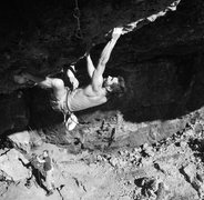 Rock Climbing Photo: bob higher up, about to join back up with couch ti...