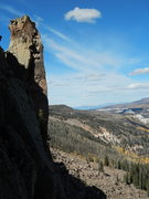 Rock Climbing Photo: Togo Tower and the the arete that needs doing.  Th...