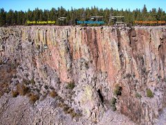 Rock Climbing Photo: North side overview showing some new and previousl...