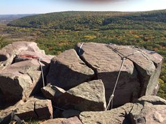 Rock Climbing Photo: On top of Brinton's Crack, 10/11/14